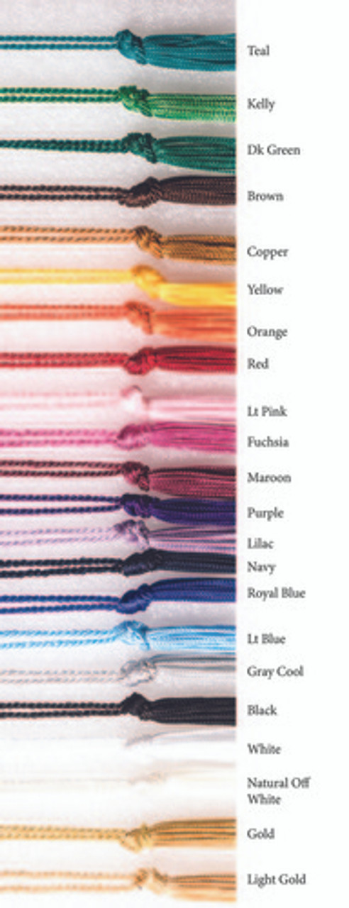 """CBMT4 Premium Chainette Tassels, Bookmark size with a 4"""" loop"""