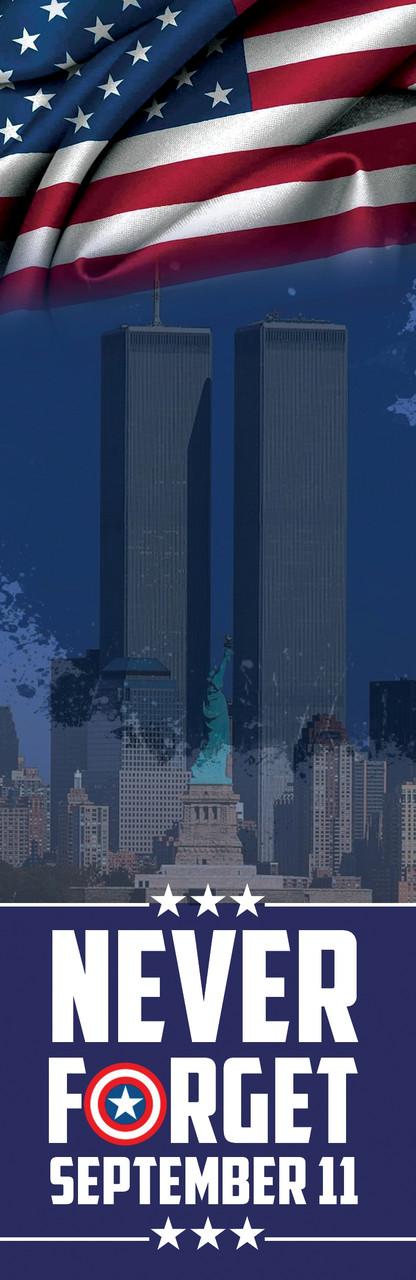 """PBM285-SE911  2.75""""x8.5"""" Always Remember 911 Memorial Bookmark"""