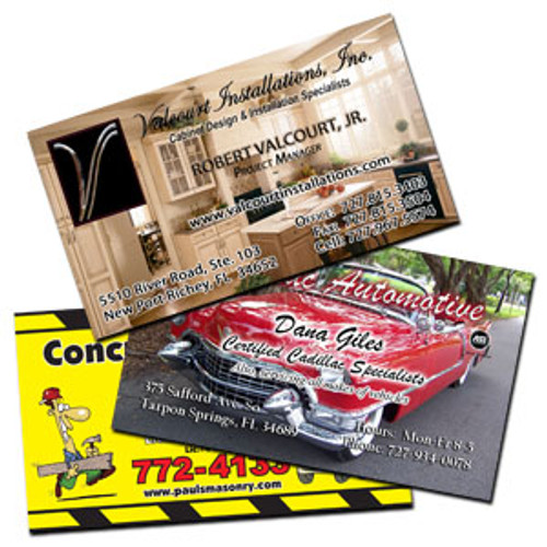 2 - Sided full color 16pt Business cards