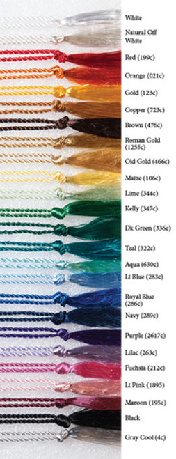 """FBMT4 Floss Tassels - Bookmark size with a 4"""" loop"""