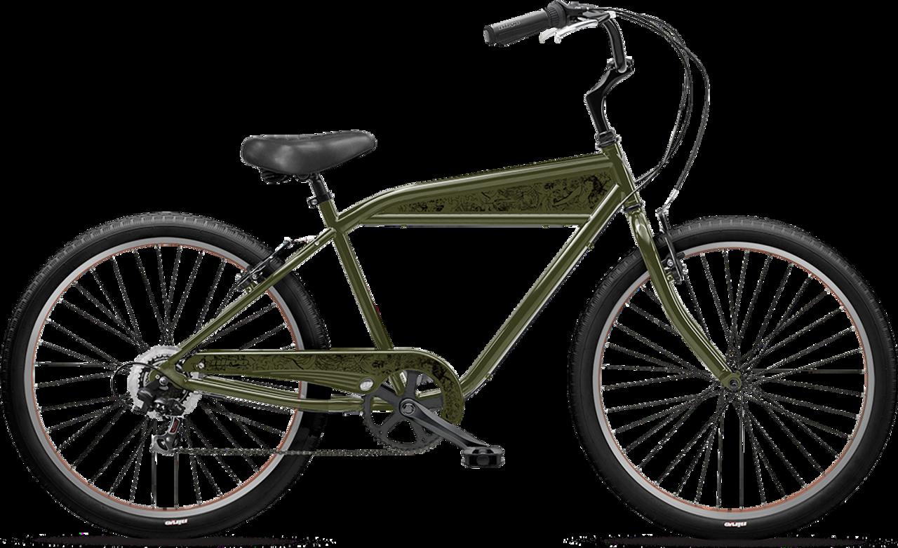 Embossed Skull Design Bike Grips for BEACH CRUISER BMX MTB LOW RIDER Bikes