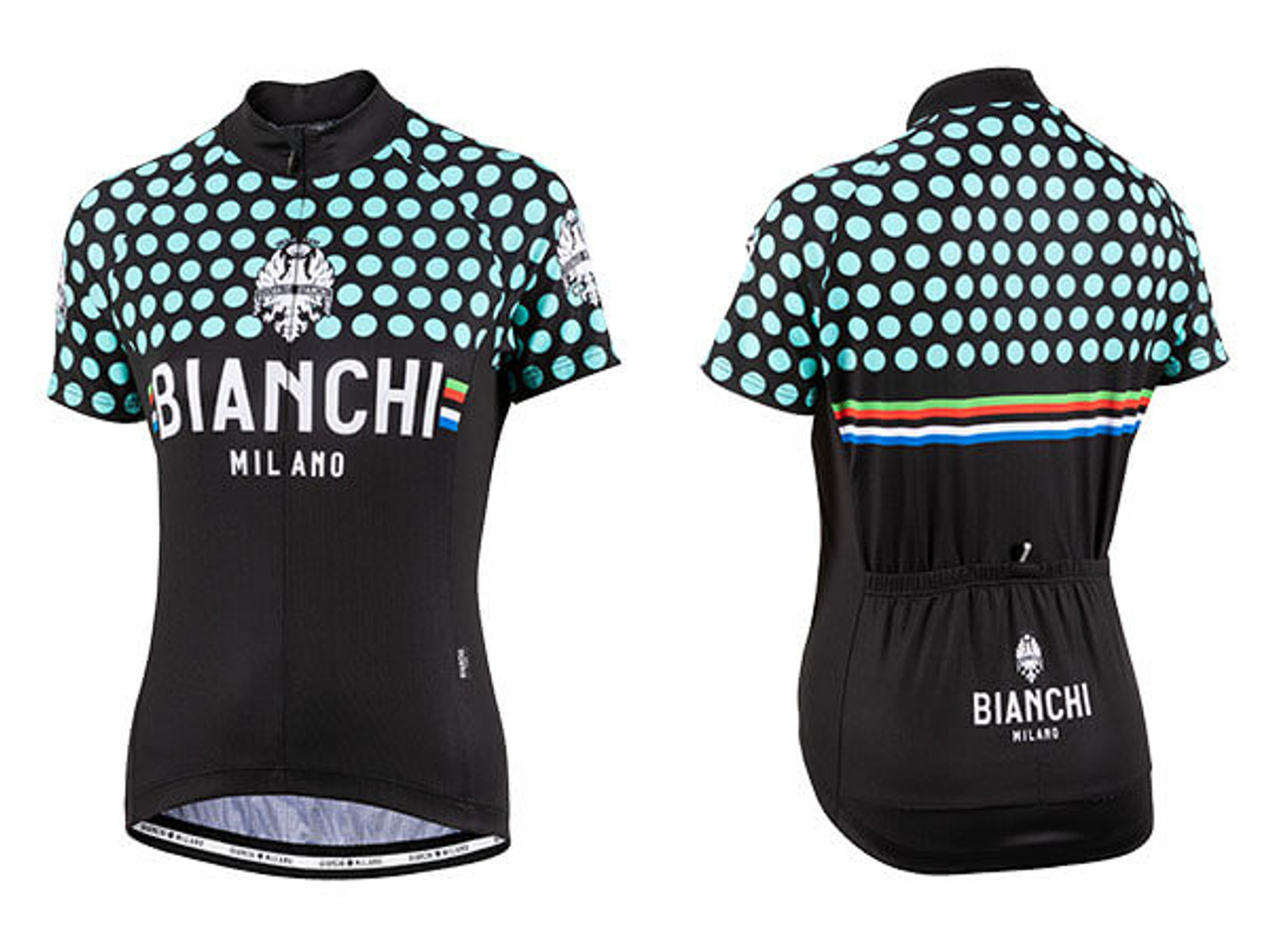Various Sizes Milano Aria Short Sleeve Cycle Jersey Black