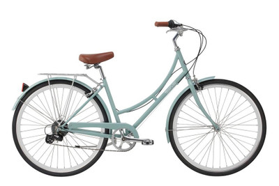 Pure Cycles | Pure City | Step Through 8 Speed | Urban City Bike | Crosby - Green