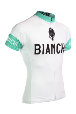 Bianchi   Team Bianchi White Jersey   Apparel   1