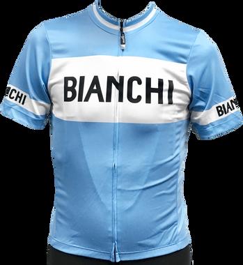 Bianchi | Eroica Full Zip Blue / White Jersey | Apparel | 2020