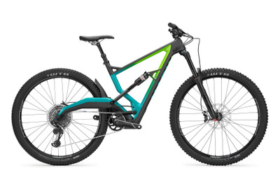 Marin | Wolf Ridge 9 | Mountain Bike | 2020 | Satin Carbon/Green-Teal Fade