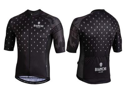 Bianchi Milano by Nalini   Savignano Short Sleeve Jersey   Men's   Black