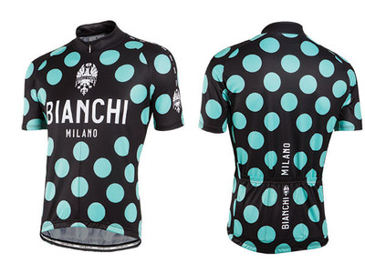 Bianchi Milano by Nalini | Pride Short Sleeve Jersey | Men's | Black Polkadot