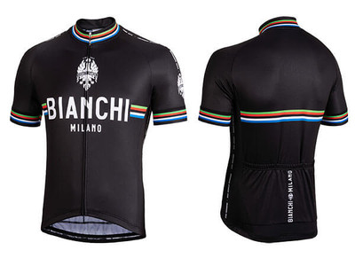 Bianchi Milano by Nalini | New Pride Short Sleeve Jersey | Men's | Black
