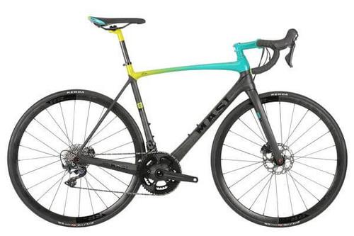Masi | Evoluzione Ultegra | Road Bike | Teal/Fluorescent Fade/Carbon