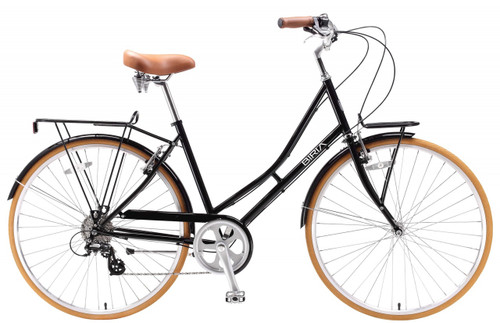 Biria | Citibike 700C ST 8-speed | Ladies Urban City Bike | Black
