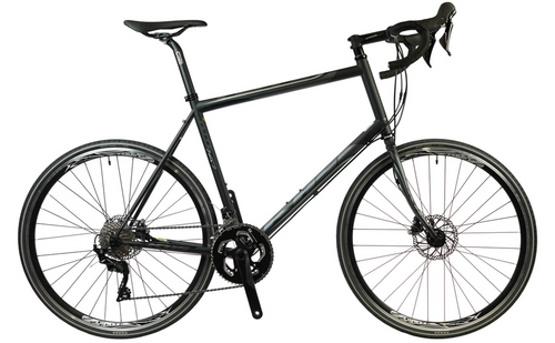 KHS | Flite 747 | Road Bike | Tall Rider with Disc Brakes | Matte Black