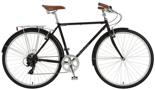 Manhattan Cruisers | Green 8e | Urban City Bike | Black