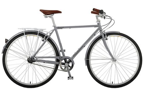 Manhattan Cruisers | Green 3 Mens | Urban City Bike | Matte Silver