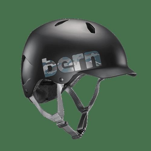 Bern | Summer Bandito | Boys Helmet | 2019 | Black - Matte Black Camo Logo