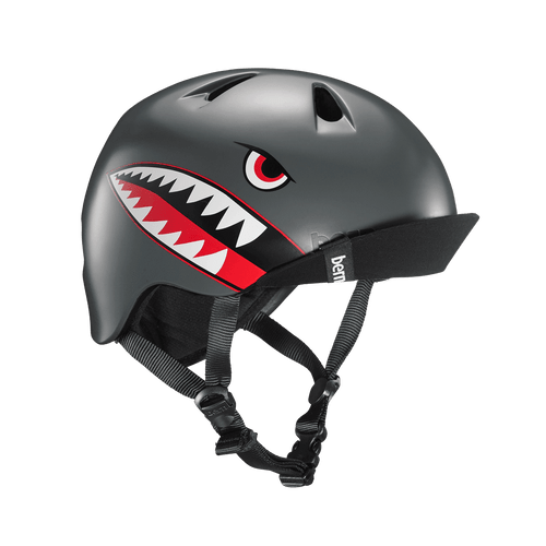 Bern | Niño | Boys Kids Helmet | 2019 | Grey - Satin Grey Flying Tiger