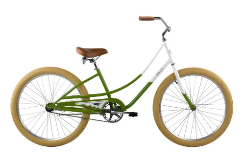 Pure Cycles | Step Through Beach Cruiser | Ladies | Hama Hama - Green/White