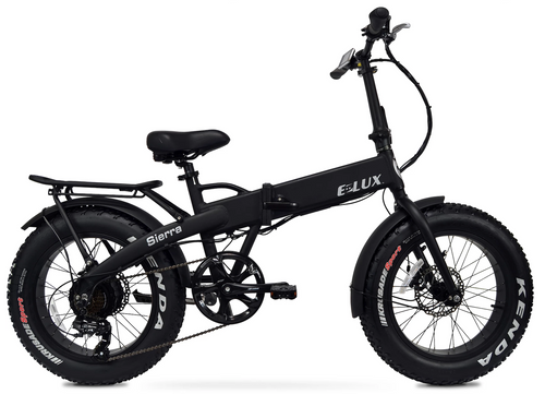 Elux Electric | Sierra Folding Bike | Matte Black | No Rack