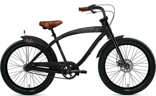 Bicycle Bike Chopper Chain Guard Chrome Black /& Chrome Cruiser Bike Part NEW!