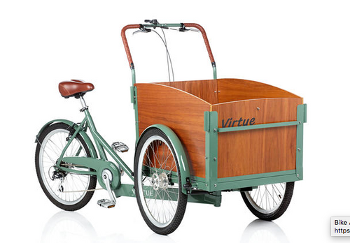 Virtue Non-Electric Schoolbus + Cargo Box Bike | Atlantis Green 6