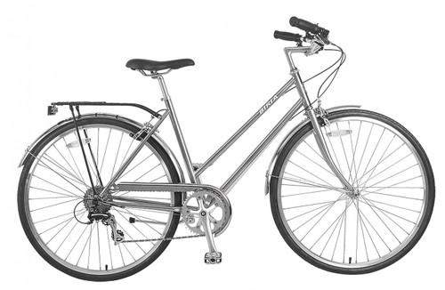 Biria | Citi Classic ST e8 | Hybrid Bike | Nickel Silver