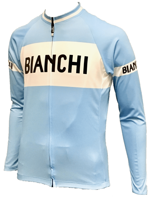 Bianchi | Eroica L/S Full Zip Blue / White Jersey | Apparel