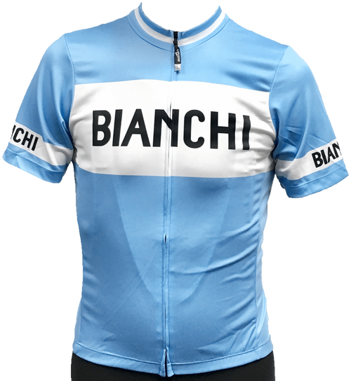 Bianchi | Eroica Full Zip Blue / White Jersey | Apparel | 2020