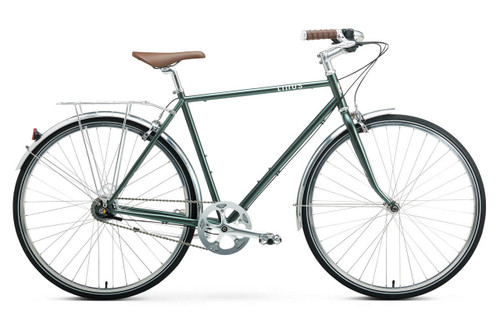 Linus | Roadster 7i | Urban City Bike | Matte Sea Green