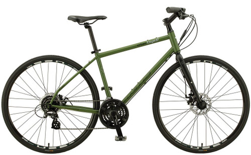 KHS | Urban Xcape Disc | Urban City Bike | Matte Army Green