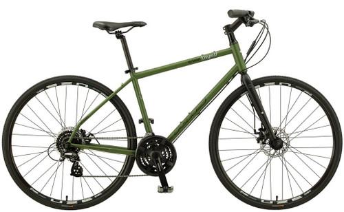 KHS | Urban Xcape Disc | Urban City Bike | Matte Army Green