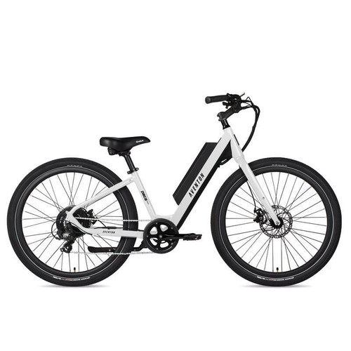 Aventon Electric | Pace 350 Step-Through | Electric City Bike | White