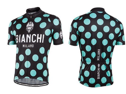 Bianchi Milano by Nalini | Pride Short Sleeve Jersey | Men's | Black Polkadot