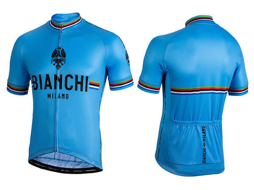 Bianchi Milano by Nalini | New Pride Short Sleeve Jersey | Men's | Azzurro