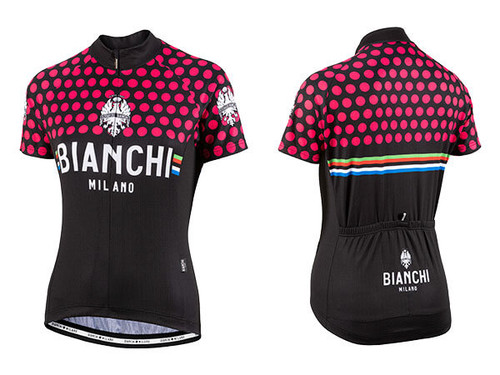 Bianchi Milano by Nalini | Crosia Lady Short sleeve Jersey | Black/Fuschia