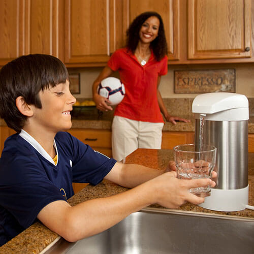 WaterChef countertop water filtration - stylish and compact system