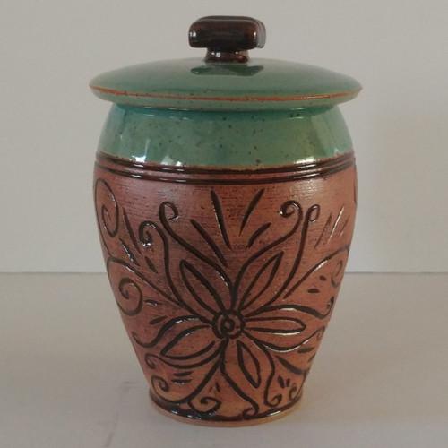 Floral Handmade Ceramic Pet SOLD