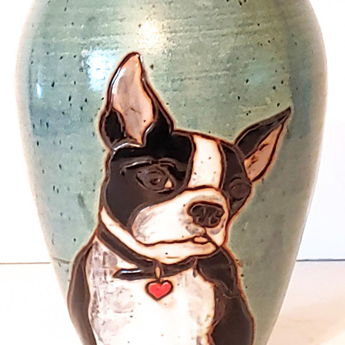 Boston Terrier Dog Ash Urn