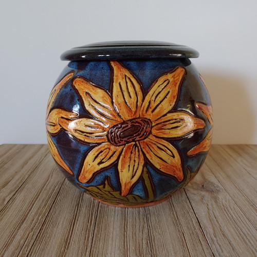 Yellow Sunflower Urn