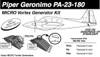 Piper PA-23-180 Geronomo Vortex Generator kit Knots 2U