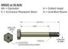 Airframe Bolt - AN3-4A