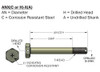 Airframe Bolt - AN3-7A