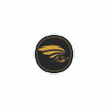 """Enhance your original scratched, dull seatbelt buckles with our custom domed peel-n-stick appliques.  This version shows a Gold Eagle image and is sized to fit the circular impression on your Golden Eagle belt buckles, approximately 1"""" Diameter."""