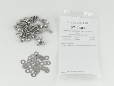 Wing Tip Hardware Kit, 64 pcs. Stainless Steel    Piper PA-28-151 & PA-28-161 Early Models 07-0507