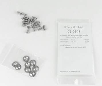 Wing Tip Hardware Kit, 36 pcs. Stainless Steel    Piper PA-28-161 Late Models 07-0508