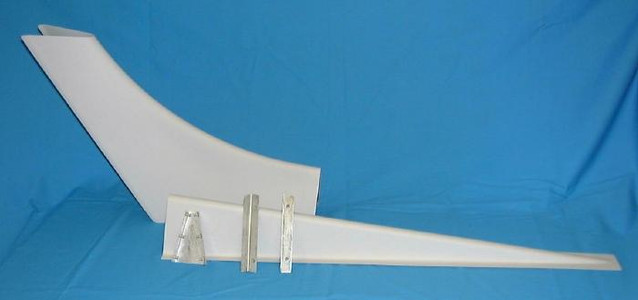 2 Pc Dorsal Fin STC Kit. Piper PA-28 Early Models. ISH28006