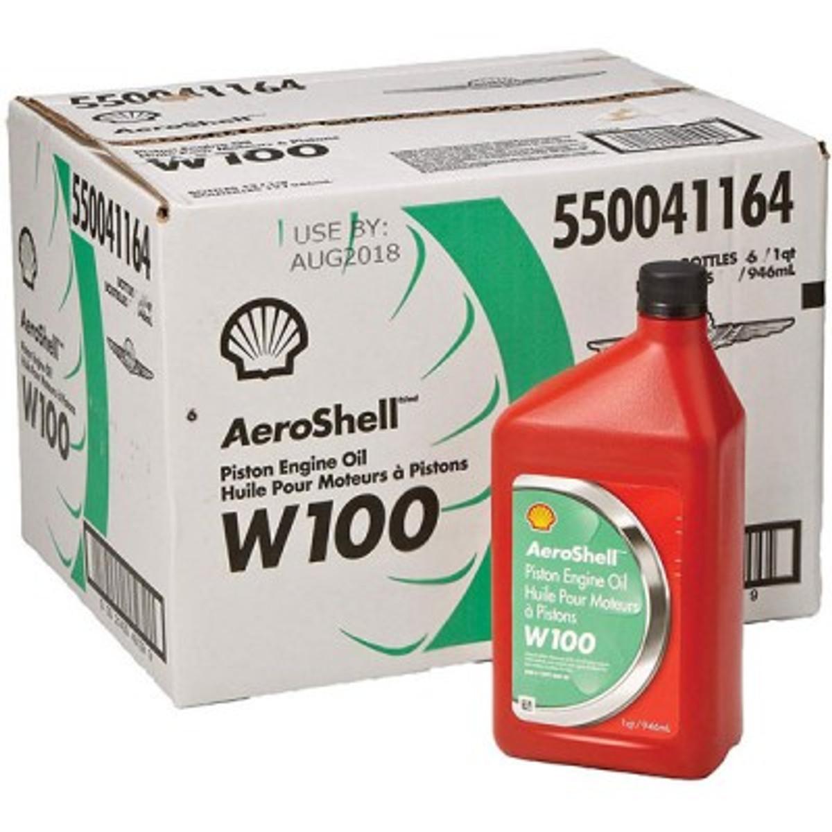 Aeroshell W100 Aviation Oil