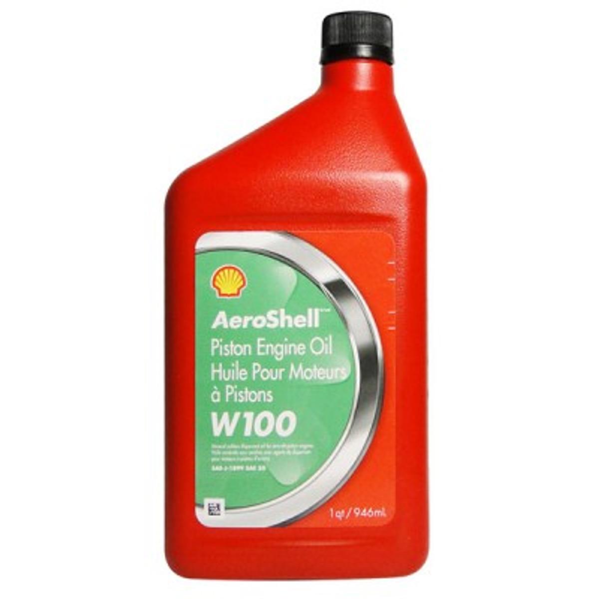 Aeroshell W100 Oil.     Case (6 quarts)