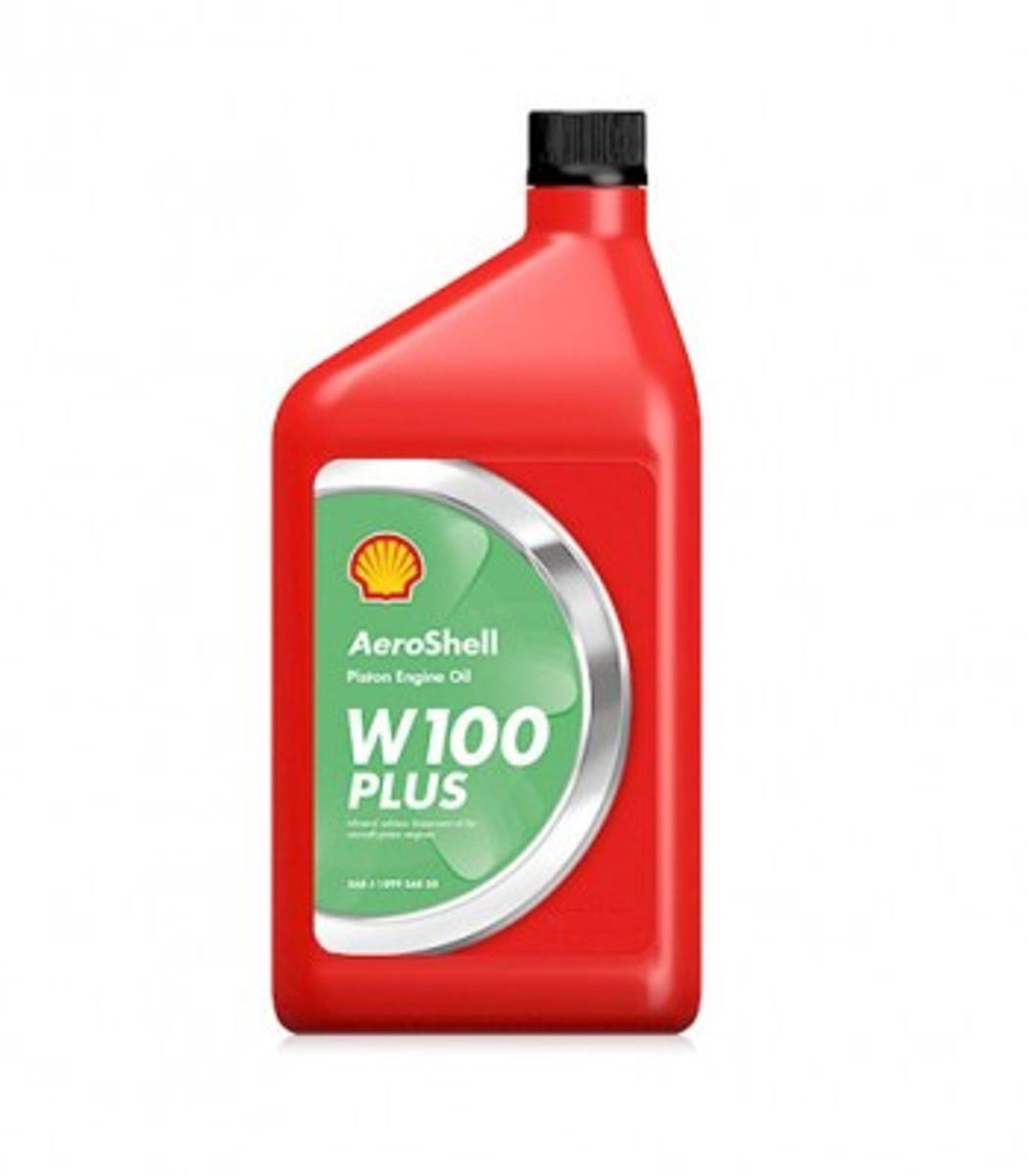 Aeroshell W100 PLUS Oil.   Case (6 quarts)