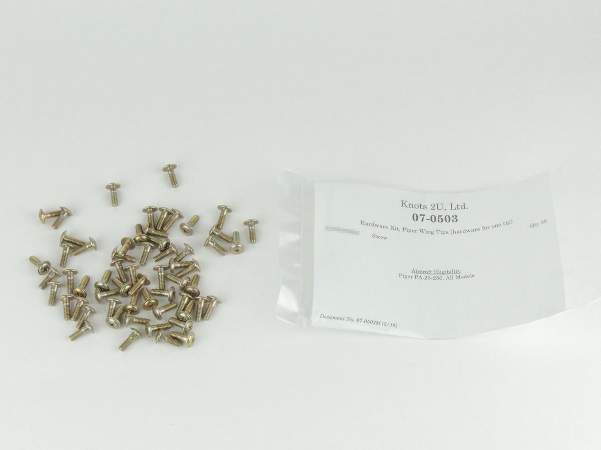 Wing Tip Hardware Kit, 58 pcs.    Piper PA-23-250   (One Tip)