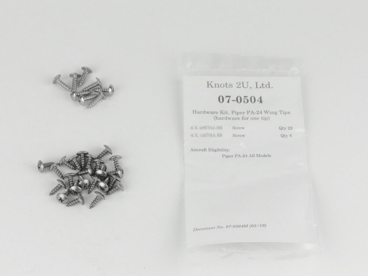 Wing Tip Hardware Kit, 60 pcs. Stainless Steel    Piper PA-24   07-0504